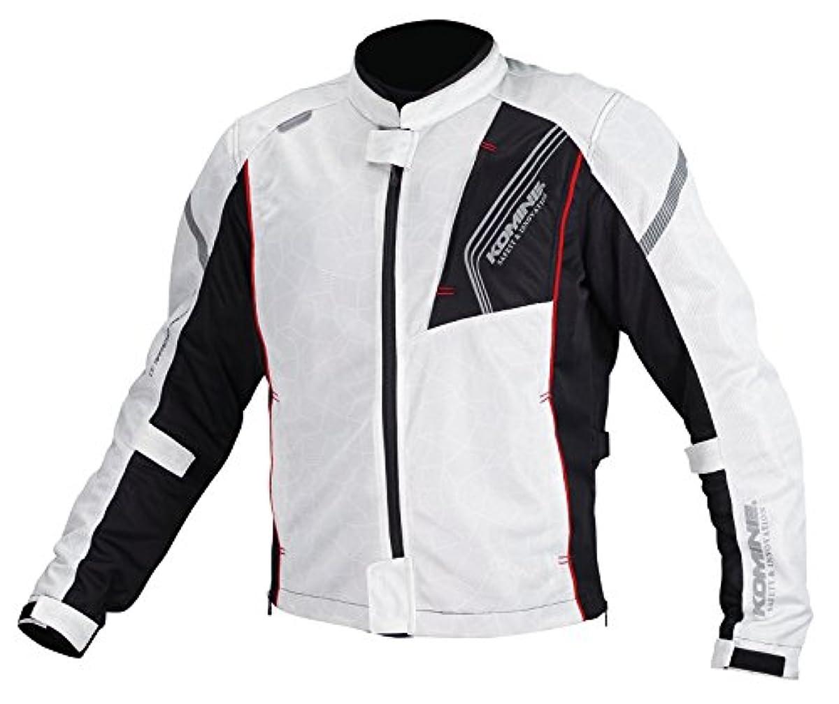 [해외] 코미네 KOMINE 오토바이 프로텍트 풀 메쉬 재킷 아우터 프로텍터 통기성 SILVER/BLACK XL 07-128 JK-128
