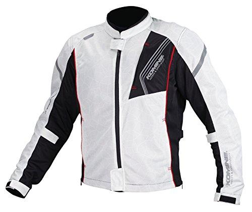 [해외] 코미네(KOMINE) JK-128 프로텍트 풀 메쉬 재킷 Silver/Black(L) Protect Full M-JKT 07-128