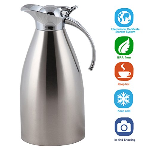 Panesor 68oz Anti-fingerprints Thermal Coffee Carafe Double Walled Vacuum Stainless Insulated Coffee Pots (Body French Press Parts compare prices)