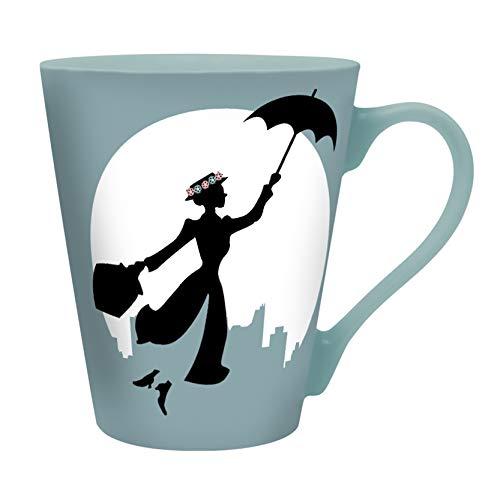 Las tazas y los vasos Abystyle reproducen logotipos o personajes icónicos de películas, series de televisión, series animadas, cómics, videojuegos y mucho más. Las tazas son de cerámica y los vasos de cristal. El producto se vende en su embalaje original.