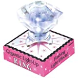 "A Night to Remember Bachelorette Party Gigantic Light-Up Diamond Ring Accessory, Plastic, 1"" x 1 3/16""."