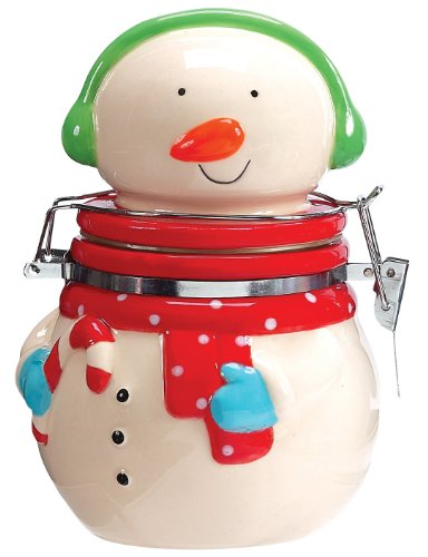 Boston Warehouse Holly Jolly Snowman Hinged Jar