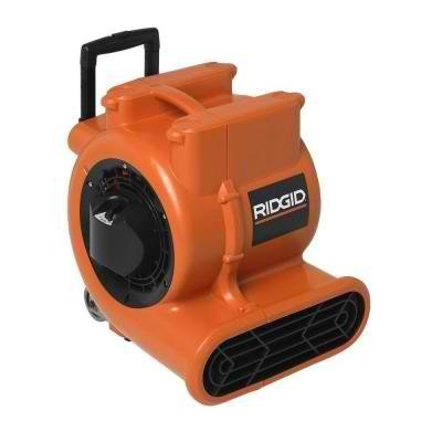 1625 CFM Air Mover for Indoor Efficient Guard Design to Disperse Air Over a Larger Drying Area by Ridgid