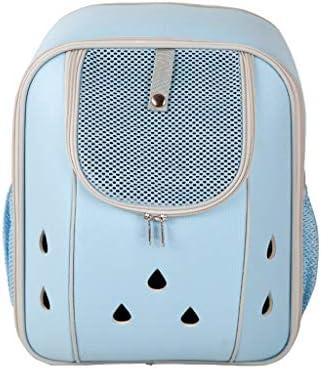 コンフォート猫犬のキャリアバックパック、旅行用に設計されたペットクラブ用ソフトクレート、屋外用、ブルーグレーピンク (色 : 青, サイズ さいず : S s)