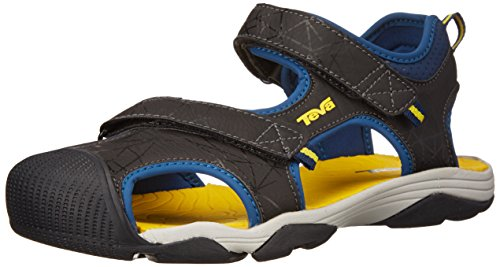 Teva Toachi 3 Kids Sport Sandal (Toddler/Little Kid/Big Kid), Navy/Yellow, 5 M US Big Kid