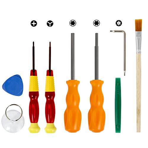 Veanic 9in1 Precision Repair Tool Kit for Nintendo, 3.8mm 4.5mm Security Triwing Screwdriver Bits, L Wrench for Nintendo Switch, Nintendo Wii/DS/2DS/3DS/DS - Nintendo For Screwdriver 2ds