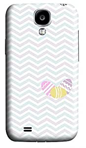 glitter Samsung S4 cases Heart Chevron 3D cover custom Samsung S4
