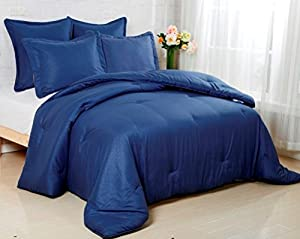 Affluence Luxury Microfiber Comforter (Full/Queen, Navy)