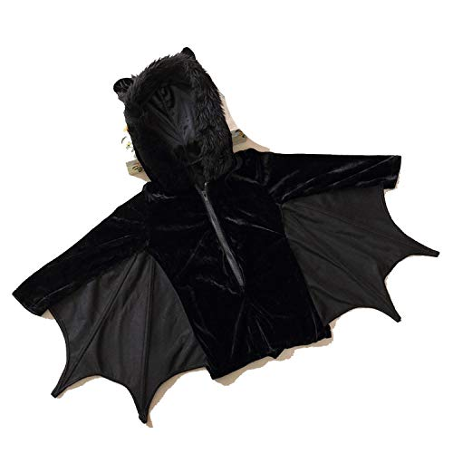 Animal CHalloween Costumes Black Zipper Jumpsuit Connect Wings -