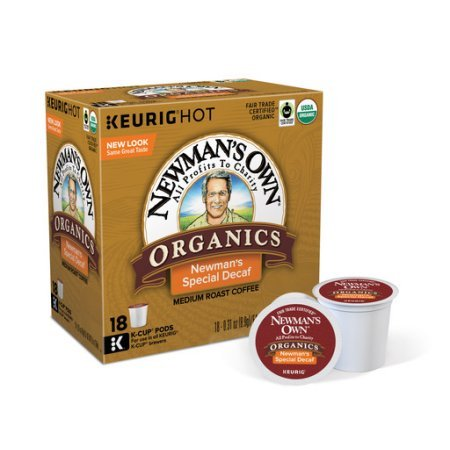 Newmans Own Organics Special Blend Decaf Keurig Single-Serve K-Cup Pods, Medium Roast Coffee 18 Count