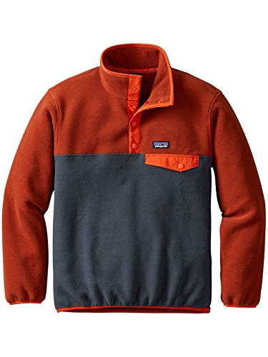 Patagonia Kids Fleece (Patagonia Boys' Lightweight Synchilla Snap-T Fleece Pullover (L, Smolder Blue))