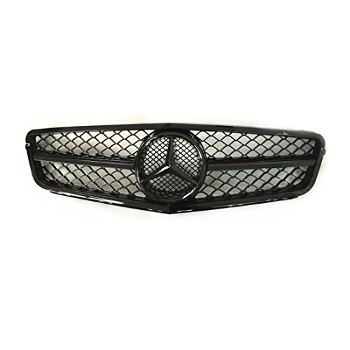 Vakabva Mercedes Benz Grill C Class ALL Black Front Grille for 2008-2013 Mercedes Benz W204 C Class