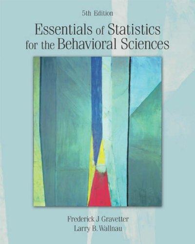 Essentials of Statistics for the Behavioral Sciences