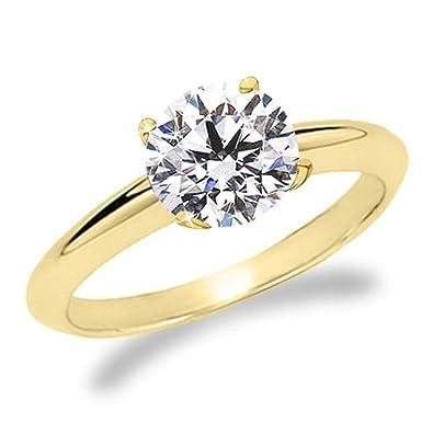 1 Carat Wedding Rings 1 2 Carat Diamond Engagement Ring Yellow Gold