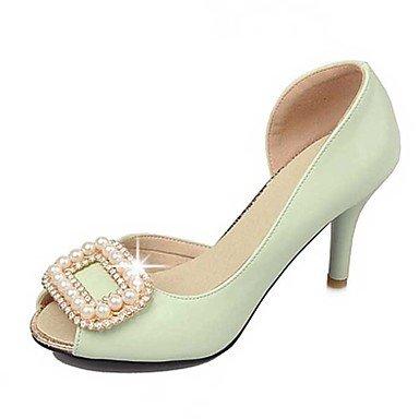LvYuan Mujer-Tacón Stiletto-Otro-Sandalias-Vestido Informal-PU-Negro Rosa Beige Green