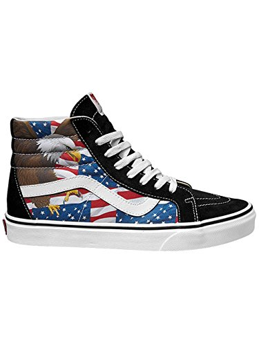 Vans SK8-Hi Reissue Free Bird Black/True White Skate Shoes ( 7.5 D(M) US Men / 9 B(M) US Women )