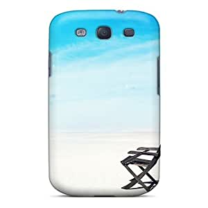 Top Quality Case Cover For Galaxy S3 Case With Nice Chair On Exotic Beach Appearance