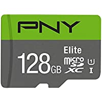 PNY Elite 128GB, up to 85MB/Sec, Microsdxc Card -UHS-I, U1 (P-SDU128U185EL-GE)