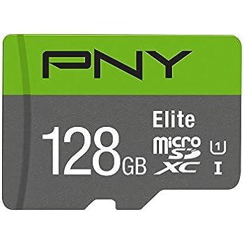 PNY Elite 128GB, up to 85MB/Sec, Microsdxc Card -UHS-I, U1 (P-SDU128U185EL-GE)