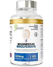 Magnesium bisglycinaat | 1000 mg dosis / 500 mg capsules | 120 capsules / 60 doseringen (2 maanden) | Hoogste biologische beschikbaarheid | Geen magnesiumstearaat of vulmiddelen | Gecheleerd & niet gebufferd
