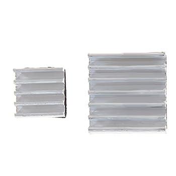 Alloet New 30 x Aluminum Heatsink Cooler Adhesive Kit for Cooling Raspberry Pi