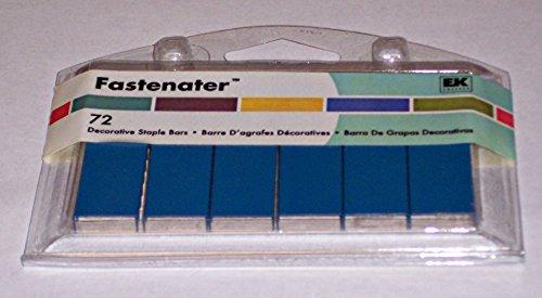 Blue Fastener Decorative Staple Bars 72 Pieces