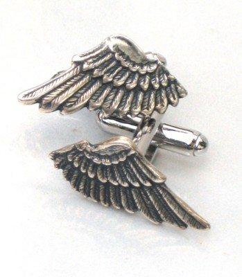 Steampunk FALLEN ANGEL WINGS Cufflinks Gothic Goth AS