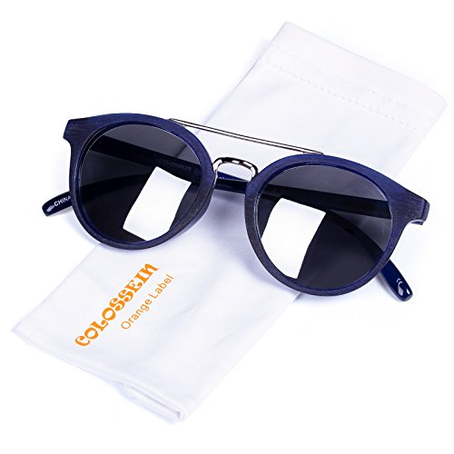 Vintage Fashion Sunglasses for women,Ultra QualityAcetate Frame,Polarized Lens,Mirror Coating, Fit for Small Face