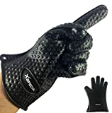 Oven Mitts Silicone Gloves By Xspecial (Heat Resistant & Waterproof) Essential Kitchen Utensil For Protecting Your Hands And Wrists Handling Any Food On Stove