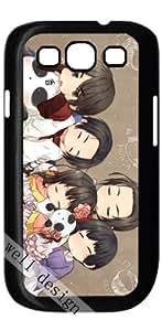 Axis Powers pop cartoon stylish design Hetalia HD image case for Samsung Galaxy S3 I9300 black + Card Sticker
