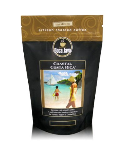 Decaf Costa Rican Coffee, Coastal Costa Rica, 100% Specialty Arabica, Medium Roast, Whole Bean, 8oz (2 Pack) - Coastal Beans