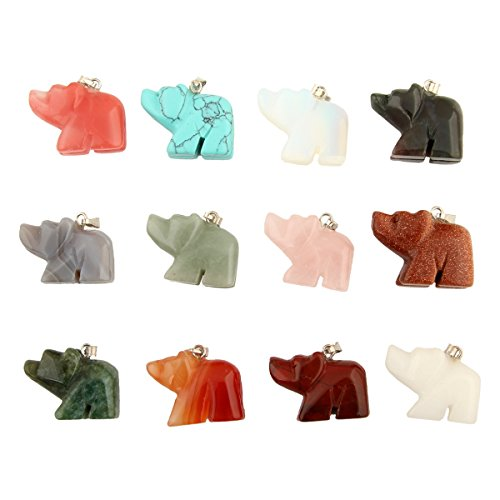Assorted Elephant Handmade Gemstone Necklace