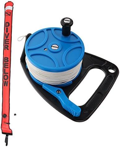 KOZEEY ダイビング リール 83メートル ハンドルホイール付き 180cm スキューバ SMB サーフェスマーカ ブイ