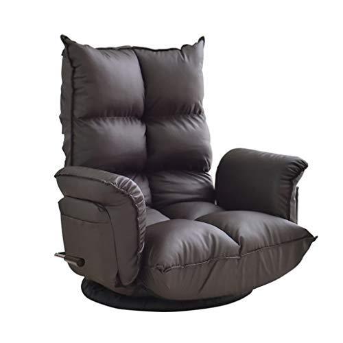 Lazy Sofa Girlクリエイティブソファチェア360°回転ラウンジチェアリビングルーム折りたたみラウンジチェア多機能調節可能なソファベッドベアリング重量150kg(カラー:ブラック、サイズ:67 * 60 * 70cm)   B07SW2CN3R