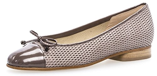 Gabor Womens Shoes 65.102.09 Ballerina Da Donna Con Superficie Allargata Torba / Dark-nude