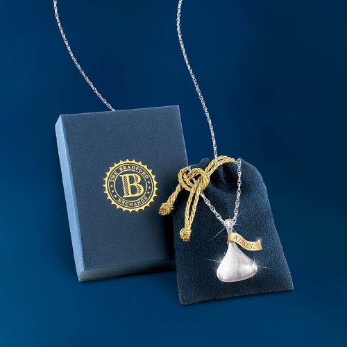 Hersheys kiss daughter diamond pendant necklace kisses for my save mozeypictures Choice Image