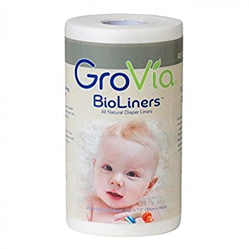 GroVia BioLiners Unscented Diaper Liners, 400 Count by GroVia