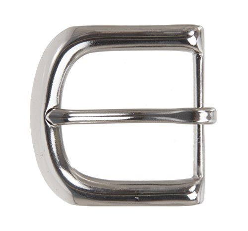 "1 1/2"" (38 mm) Nickel Free Single Prong Solid Brass Horseshoe Belt Buckle Color: Silver from beltiscool"