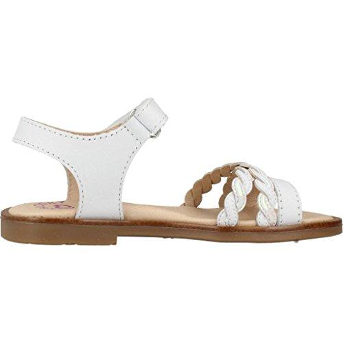 Pablosky Velcro Bianco Sandalo Mainapps Treccia E Chiusura Incrociato Con YT8rYxp