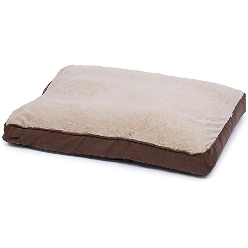 "Petco Brown Memory Foam Rectangular Pillow Dog Bed, 30"" L X"