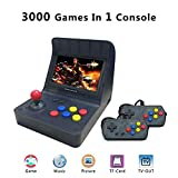 ANBERNIC Handheld Game Console , Retro Game Console 4.3 Inch 3000 Classic Game Player with 2PCS Joystick , TV Output Portable Video Game Console - Transparent Black