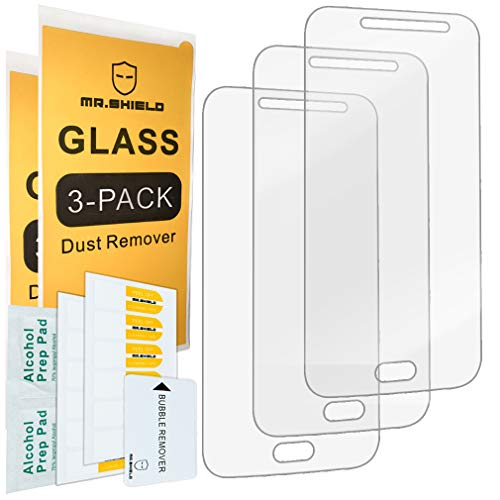 [3-Pack]- Mr.Shield for Samsung Galaxy J2 Pro 2018 [Tempered Glass] Screen Protector [Japan Glass with 9H Hardness] with Lifetime Replacement