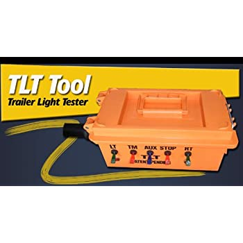 Amazon lenmumu 7 pin 12v trailer light tester plug socket trailer light tester for semi trailers tlt tool sciox Image collections