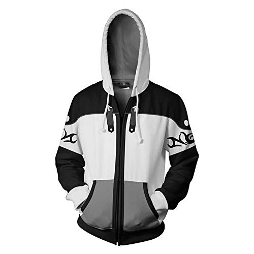 VOSTE Kingdom Hearts Costume Halloween Game Cosplay Zip Up Jacket Pullover Hoodie for Unisex (XX-Large, Color 5)]()