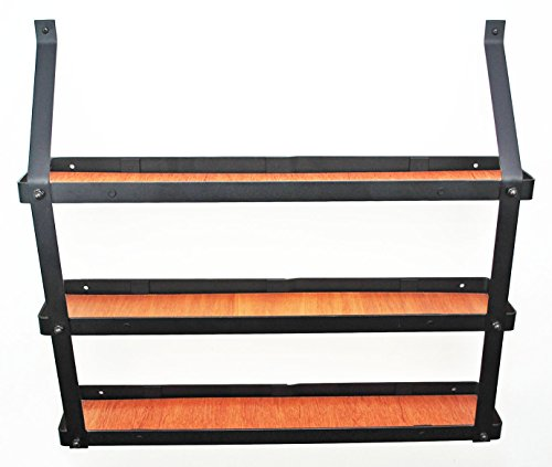 (3 Tier Spice Rack in Black and Lacquered Natural)