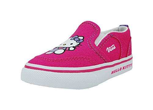 Vans Girls Asher Hello Kitty Infant/toddlers Pink Sneakers Slip on Shoes (Childrens Hello Kitty Vans)
