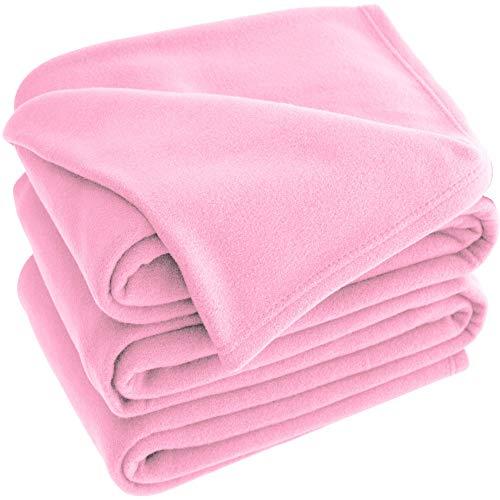 - Bare Home Polar Fleece Cozy Bed Blanket - Hypoallergenic Premium Poly-Fiber Yarns, Thermal, Lightweight Blanket (Twin XL/Twin, Light Pink)