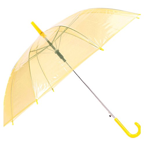 Sichyuan 7 Colors Lightweight High Clear Transparent Umbrella,Fashion Auto Open Costume Play Rain Umbrella For Lady Women Girls. (Halloween Costume Using Umbrella)