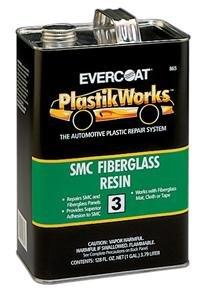 Based Resin - Evercoat Fibre Glass SMC Fiberglass Resin, 1-Quart (FIB-864)