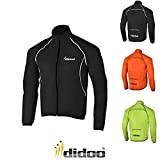 Didoo Cycling jacket waterproof mens Winter Rain Coat High Visibility Zipper Lightweight & Breathable Reflective Moisture Windproof Long Sleeve MTB Mountain Bike Running Hi Viz Jogging Jacket For Sports and Outdoor by Didoo